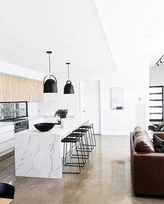 56 Design Ideas for Modern and Minimalist Kitchen ~ My Dream Home Küchen Design, Home Design, Interior Design, Design Ideas, Luxury Kitchen Design, Minimalist Kitchen, Cuisines Design, Living Room Kitchen, Kitchen Interior