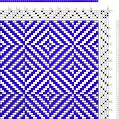 Hand Weaving Draft: Figure 1714, A Handbook of Weaves by G. H. Oelsner, 4S, 4T - Handweaving.net Hand Weaving and Draft Archive