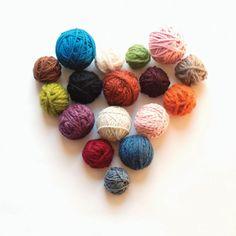 coeur de pelotes de laine
