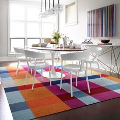 Flor -carpet tiles - this combination in 8x10 is about $625 - dining or living room?