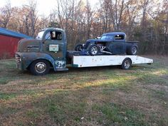 50 Ford COE and a 46 HotRod