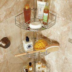 Stainless Steel Tension-mount Shower Butler