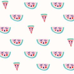 Cute faces are such a fun trend right now....love the combination with watermelon for summertime!