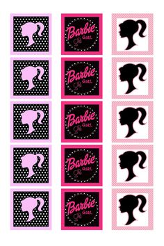 INSTANT DOWNLOAD. BARBIE  Square Variety 1 by BowtiqueFinds, $0.99