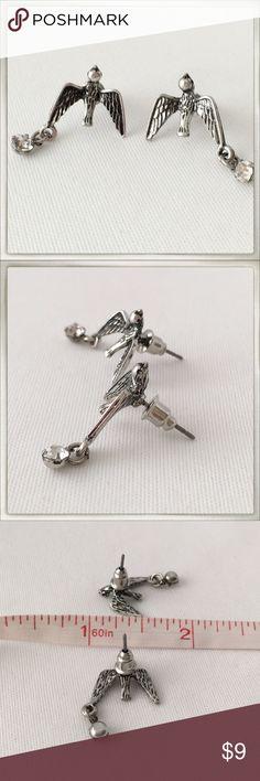 Bird Crystal Silver Tone Stud Earrings *New* Brand new, no tag. Cute! Jewelry Earrings