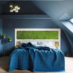 Mose vegg fra WALL-IT! Beautiful Bedrooms, Your Style, Bedroom Decor, Wall, Furniture, Decorating Ideas, Design, Home Decor, Decoration Home