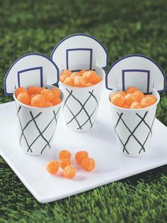 Basketball party food. #BasketballPartyIdea