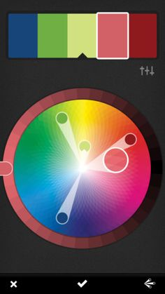 Adobe Kuhler App - design color palettes by Analogous / Monochromatic / Triad / Complementary / Compound / Shades