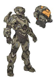 Halo 5- Recluse Armor design, Kory Hubbell on ArtStation at https://www.artstation.com/artwork/3byxE