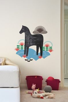 Swedish Horse chalkboard decals available exclusively with Blik