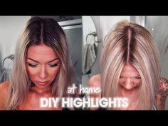 Diy Hair At Home, Blonde Hair At Home, At Home Hair Color, Diy Bleach Hair, Bleach Blonde Hair, Cool Blonde Hair, Blonde Foils, Balayage Hair Blonde, Highlighting Hair At Home