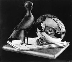still life with spherical mirror