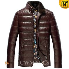 CWMALLS Mens Down Jackets with Mink Fur Collar CW846053 Fashion down padded leather jackets for men, supple sheepskin leather upper and 90% down 10% feather filling, detailed with removable mink fur collar and colorful lining, choose this down leather jackets in yellow, wine or dark green, nice and stylish for men. www.cwmalls.com PayPal Available (Price: $597.89) Email:sales@cwmalls.com