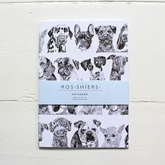 This is a beautiful notebook designed by illustrator Ros Shiers, featuring her line pencil drawings of dogs. This is a perfect gift for any dog lover (or just for yourself)!
