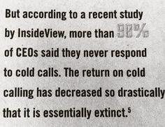 Kolde opkald er ikke døende, de er døde...