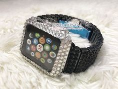 Apple Watch Bling BEDAZZLED Clear white Swarovski Crystal Case Protect – ZoeCrystals