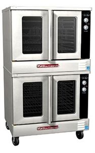 SOUTHBEND Convection Oven, Gas, double-deck, standard depth, solid state controls.