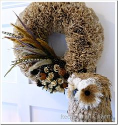 DIY Fall Coffee Filter Wreath Tutorial