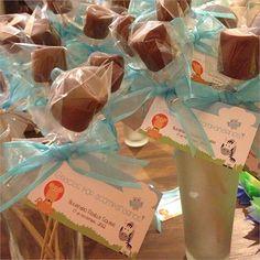 Recuerdos #babyshower #diy hechos por mi :) #chocolates #bombones