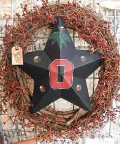 Hey, I found this really awesome Etsy listing at http://www.etsy.com/listing/109698339/osu-buckeyes-wreath-ohio-state-door