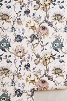 "visuallyoverwhelming: "" ""Artemis"" wallpaper sold at Anthropologie "" - claudia maurer - Unique Wallpaper, Home Wallpaper, Botanical Wallpaper, Wallpaper For Kitchen, Bathroom Wallpaper Retro, Vintage Wallpaper Patterns, Accent Wallpaper, Summer Wallpaper, Wallpaper Designs"