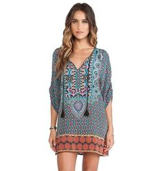 Womens Spring Summer Vintage Boho Retro Hippie Dress