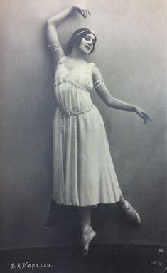 Vera Karalli~Russian ballerina & silent film star (postcard , early 1900s) Anna Pavlova, Vintage Ballet, Silent Film Stars, Theatre Costumes, Ballet Dancers, Ballerina, Trending Outfits, Dresses, Fashion