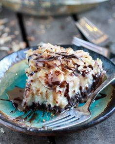 Coconut Banana Cream Chocolate Truffle Pie from Half Baked Harvest