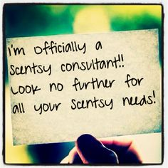 I'm officially a Scentsy Consultant!! Look no further for all your Scentsy Needs! https://michaelalewis.scentsy.us