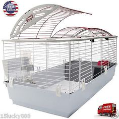 X-Large Pet Cage Rabbit Hutch Guinea Pig Ferret Chinchilla Small Animal House