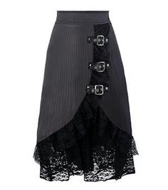 Vintage Steampunk Lace Skirt