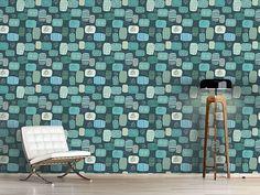 Design #Tapete Blaue Flecken