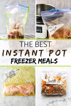 Instant Pot freezer meals are your weeknight weapon to avoid dinner time chaos and a hangry family! Instant Pot freezer meals are your weeknight weapon to avoid dinner time chaos and a hangry family! Healthy Freezer Meals, Dump Meals, Freezer Cooking, Easy Healthy Recipes, Freezer Recipes, Premade Freezer Meals, Freezer Prep Meals, Crockpot Freezer Meals, Kid Meals