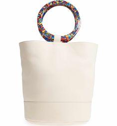 28a322cf0ea Confetti Handle Bonsai Leather Bucket Bag