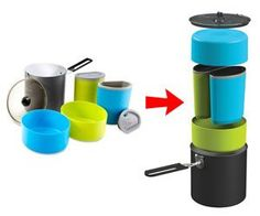 Lightweight Nesting Cookware This Website Has A Ton Of Cool Camping Gear