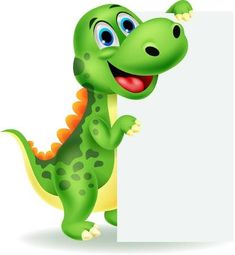 Illustration of Cute dinosaur cartoon with blank sign vector art, clipart and stock vectors. Dinosaur Eggs, Baby Dinosaurs, Cute Dinosaur, The Good Dinosaur, Art Birthday Cake, Dinosaur Birthday Party, Happy Birthday, Birthday Cake Illustration, Dinosaur Pictures