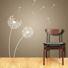 Wall Decals, my sister has this as a tattoo on her back and the dandelion fluffs turn in to birds. Dandelion Wall Decal, Dandelion Wallpaper, Vinyl Wall Art, Home And Deco, My Room, Wall Design, Home And Living, Wall Murals, Wall Stickers