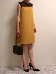 ♡コーデ♡マスタードカラーで大人女子のドレスコーデ | Marie's OL STYLE ♡