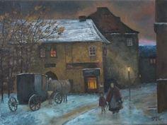 Winter evening by Libor Jellúš.