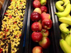 Beautiful arrangement of reds and yellows on this salad bar. From Dina Wiroll, Billerica, Massachusetts.