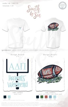 parents weekend for Theta - Alpha Delta Pi Delta Gamma Shirts, Alpha Delta, Tri Delta, Kappa, Sorority Shirt Designs, Sorority Shirts, Tee Shirts, Custom Clothing Design, Custom Clothes