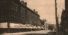Scene along Franklin Street - This shows the old Woolf Block at the corner of Lincoln and Franklin Streets before old U. Johnstown Flood, Pennsylvania History, Chase Bank, Jpmorgan Chase, Travelling Tips, Places Of Interest, Famous Places, Old Things, Scene