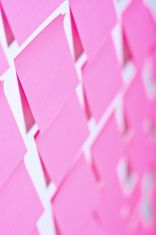 Post it in pink stock photo