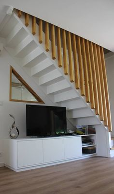 51 Trendy Under The Stairs Ideas Design Railings Loft Stairs, Staircase Railings, Modern Staircase, House Stairs, Under Stairs, Staircase Design, Bannister, Stair Walls, Building Stairs