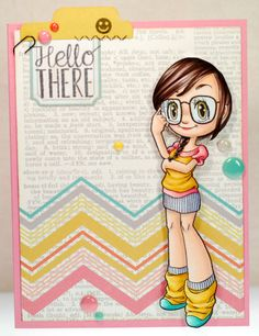 A thousand sheets of paper: Hello there... using Geeky Mae #digitalstamp