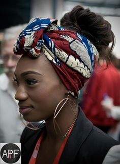 Head Scarf Statement earings! WOW - maybe not quite as big as these but it certainly creates a focus