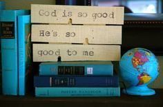 Reclaimed signs with hymns