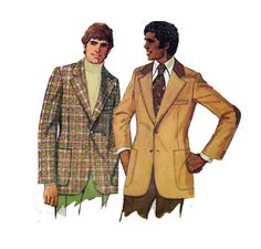 MEN'S Blazer Sewing Pattern Regular or Tall Sleeve by HoneymoonBus, $9.99