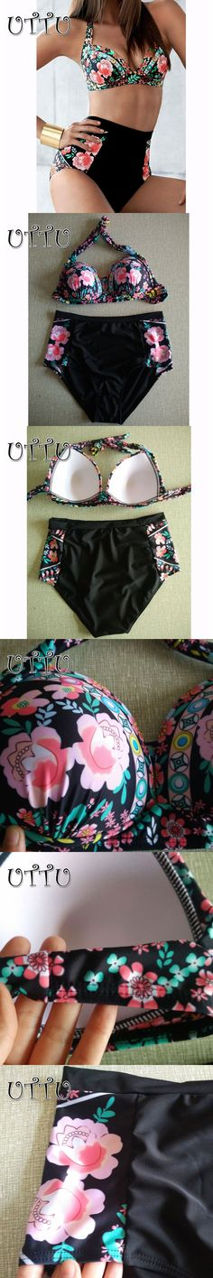 Cheap suit up, Buy Quality suit suit directly from China suit women Suppliers: UTTU Plus Size Print Floral Strappy Bikini Set Women Modest Push Up Swimwear Big XXL High Waist Swimsuit Patchwork Bathing Suit Push Up, Modest Bikini, Cheap Suits, Swimsuits, Swimwear, Suits For Women, Bikini Set, Bathing Suits, Plus Size