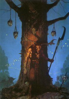 Gerald Brom - Elkhorn... Dangerous fairytale world.